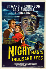 "Night has a Thousand Eyes Movie Poster Replica 13 x 19"" Photo Print"