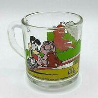Vintage McDonald's Garfield & Odie Mug Glass Jim Davis 1978