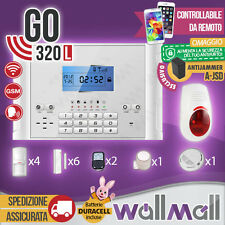 KIT ANTIFURTO CASA ALLARME TOUCH SCREEN COMBINATORE GSM WIRELESS GO320L