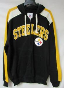 Pittsburgh Steelers Men's Size 2X-Large Full Zip Hoodie Sweatshirt A1 3970