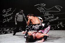 WWE HBK Shawn Michaels & Bret Hart Signed Mont. Screwjob Photo autograph JSA COA