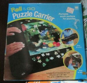 """Jigsaw Puzzle Inflatable Black Roll & Go Puzzle Storage & Building Mat 34""""x48"""""""