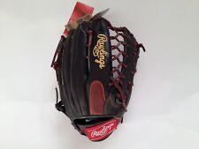 "Rawlings Gamer Baseball Glove TRAP-EZE GR5G8 12.5"" Black Brown RHT Outfielders"