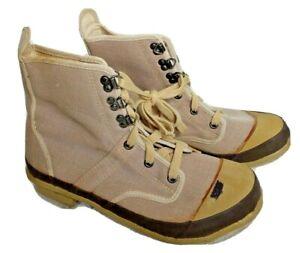 Hodgman Lake & Stream Mens 11 Khaki Tan Steel Shank Caster Wading Fishing Boots