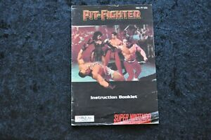 Pit fighter Nintendo Snes Manual