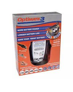Optimate 3 Chargeur testeur mainteneur avec récupération de batterie 12v 0.8A