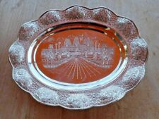 vintage silver plated serving platter, Ankor Wat, Cambodia