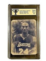 Kobe Bryant ACEO Pencil Sketch  BLUE Hologram #/25 GRADED 10 GEM