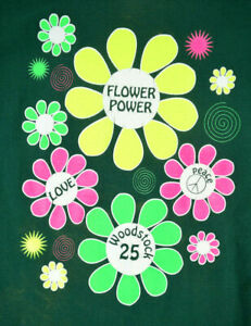 Original Vintage Woodstock 94 Flower Power T-Shirt Sz S/M c.1994 Last of a Kind