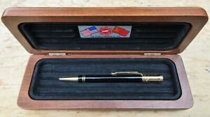 "New Parker Duofold ""World Memorial"" Ball Pen + Cherry Wood Case"