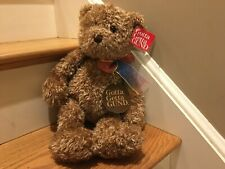 Gund Teddy Bear Toy Plush Bearessence Soft Rainbow Bow Ribbon New With Tags 4890