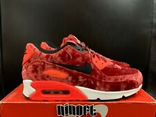 Nike Air Max 90 Anniversary Gym Red Velvet Infrared Black 725235-600 NEW