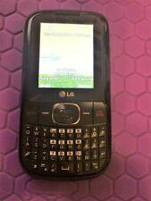 LG LG500G Black TracFone KEYBOARD Cell Phone GPLG500GB + AC & Car Adapter