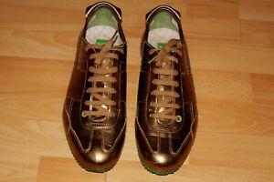 NEUw.  HUGO BOSS  Herren  Leder   Sneaker  Gr. 42    Gold Metallic   50222847