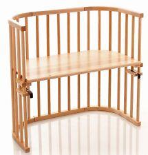 Beistellbett Tobi Babybay Natur Lackiert Holzbett Stillbett Anstellbett Gitter