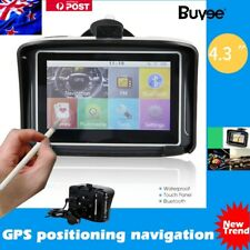 "NEW Motorcycle Bike SAT NAV GPS Australia Maps 4.3"" Touch Screen 8GB Waterproof"