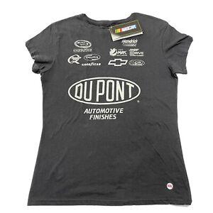 NASCAR Womens XXL Shirt Top Jeff Gordon Gray Stretch Tee 2-Sided Front & Back