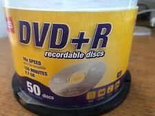 Blank DVD+R Staples Brand 16X 4.7GB 120min Record Media Disc 50 discs
