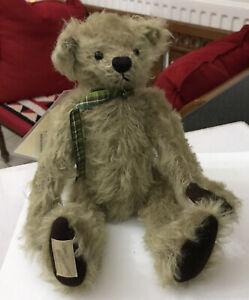Vintag Deans Rag Book Plush Mohair Soft Toy Ltd Ed Jointed Teddy Bear HUGO Brown