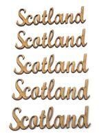 Scotland wording pack of 5,Scotland words, Wooden MDF Scotland wording decoupage