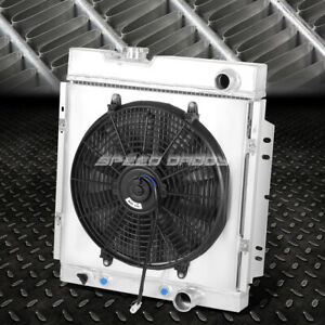 FOR 64-66 FORD MUSTANG PONY 3-ROW ALUMINUM CORE RACING RADIATOR+PULL FAN SHROUD