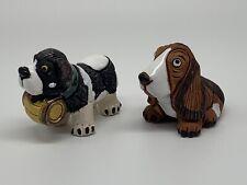 Leps Peruvian Pottery Figurine St Bernard Hound Dog