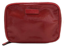 Authentic GUCCI Makeup pouch Red logo cosmetics case Women