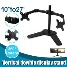 Dual HD LED Screen Desk Mount Monitor Arm Stand Display Bracket Holder