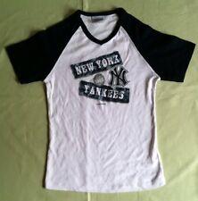 MLB Majestic New York Yankees Children's Short Sleeve Top- White/Black- Small