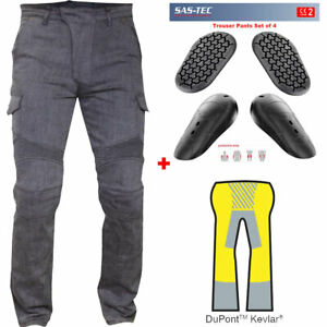 RTX GREY Motorcycle Biker JEANS + SAS-TEC CE Level 2 Armour & Made with Kevlar
