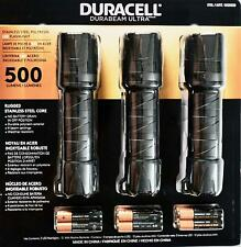 Duracell Durabeam Ultra LED Flashlight 500 Lumens, 3 Pack, Camping/Walking