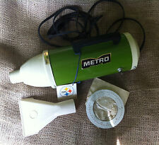 1970's Metro Canister 12 Volt Auto Hand Held Vacuum Cleaner Vintage