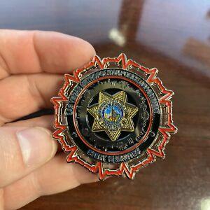 Crazy RARE Las Vegas Metropolitan Police Department Two Tone Challenge Coin RARE