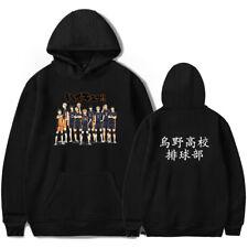 Anime Haikyuu!! KARASUNO Mens Womens Casual Hoodie Sweatshirt Pullover Jumper