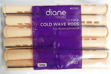 """Diane 11/16"""" Cold Wave Rods Curlers Hair Perm #DCW2 12-pieces - Sand - Long"""