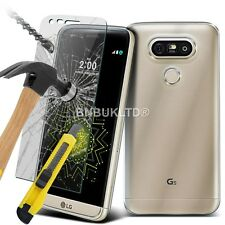 Clear Slim Gel Case & Glass Screen Protector for LG G5