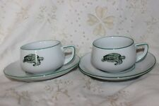 2 Cups with Saucers Lacroix Porcelain Thomas Germany Turtle