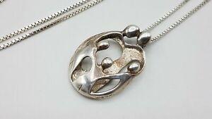 Carolyn Pollack Relios 925 Silver Family Pendant on IBB 925 Chain BT158