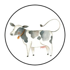 """30 1.5"""" FARM COW BIRTHDAY BABY SHOWER FAVOR LABELS ROUND STICKERS***"""