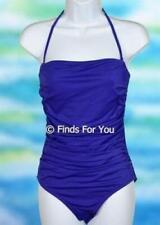 J Crew Women's Ruched Bandeau One Piece Swimsuit Bathing Suit Purple Sz 2 10235