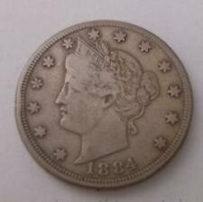 More details for 1884 united states 5c nickel coin usa very fine