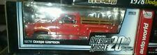 1:18 Autoworld/ American Muscle 20th Elite Edition 78 Dodge Truck Warlock