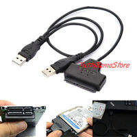 "CAVO ADATTATORE CONVERTITORE DA USB 2.0 A SATA HARD DISK 2,5 2,5"" HDD PC SSD"