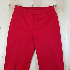 Women's Red Pants Size 4 Career Casual Formal 98% Cotton Made in Romania Hot Red