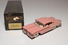 ~ BROOKLIN SET 22 1958 EDSEL CITATION TWO DOOR HARDTOP PINK SALMON MINT BOXED
