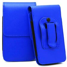 Universal Vertical Leather Belt Pouch Holster Clip Loop For Various Mobile Phone