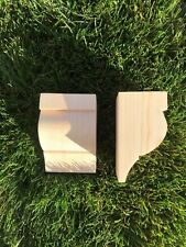 Wooden Corbels (Shelf Brackets) solid pine style R (1 pair)