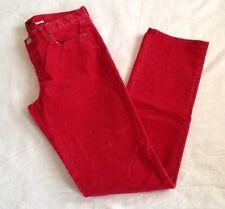 "Womens J. Crew Red Corduroy Pants Size 29R Inseam 31"""