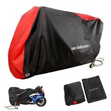 XXXL Waterproof Motorbike Motorcycle Scooter Rain Cover Garage Outdoor Red+Black