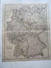 1834 Western Germany J Arrowsmith Map From The London Atlas Antique